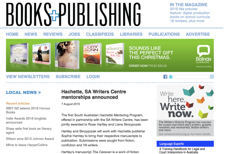 Books and Publishing article